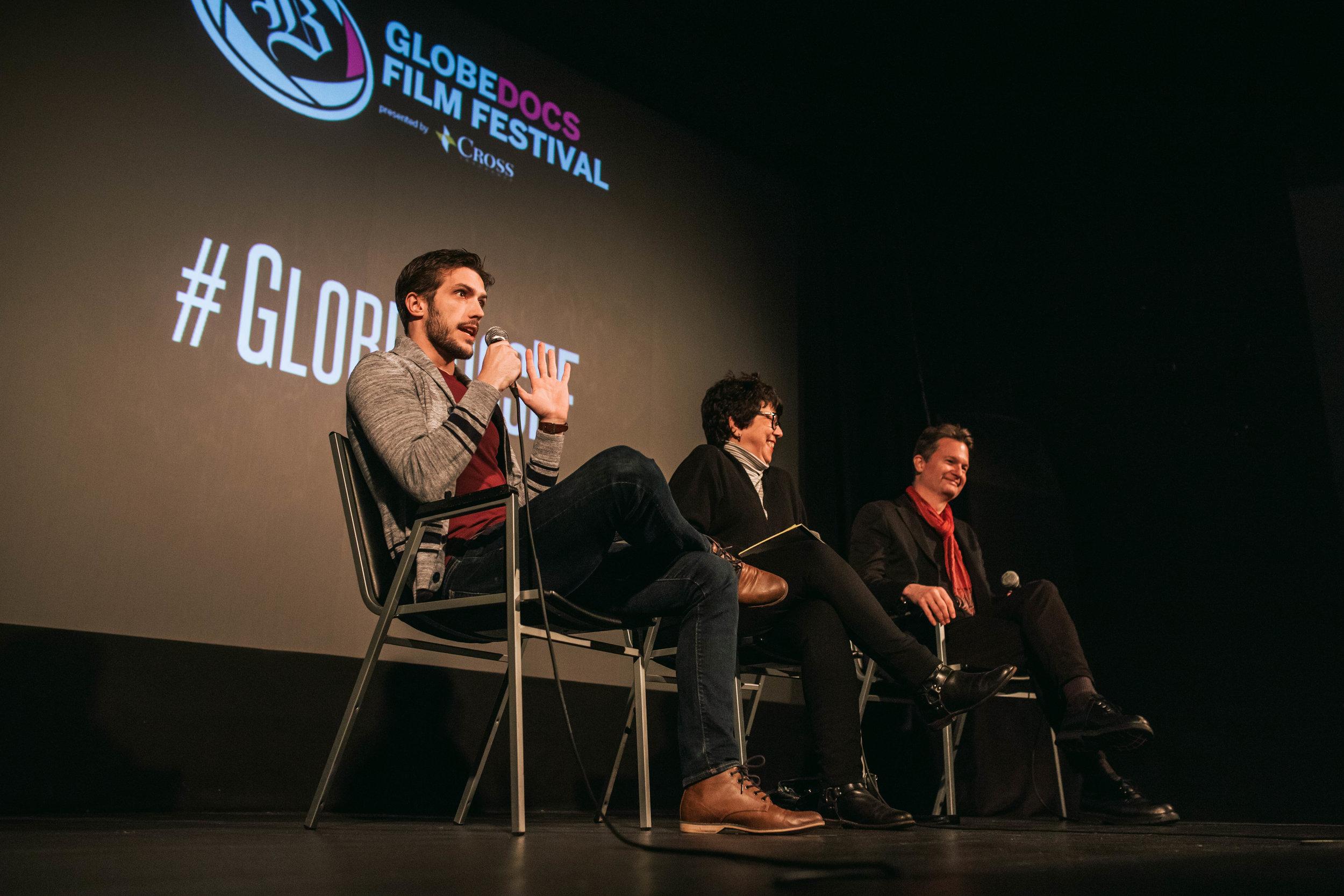 Panel discussion at the Danseur film screening