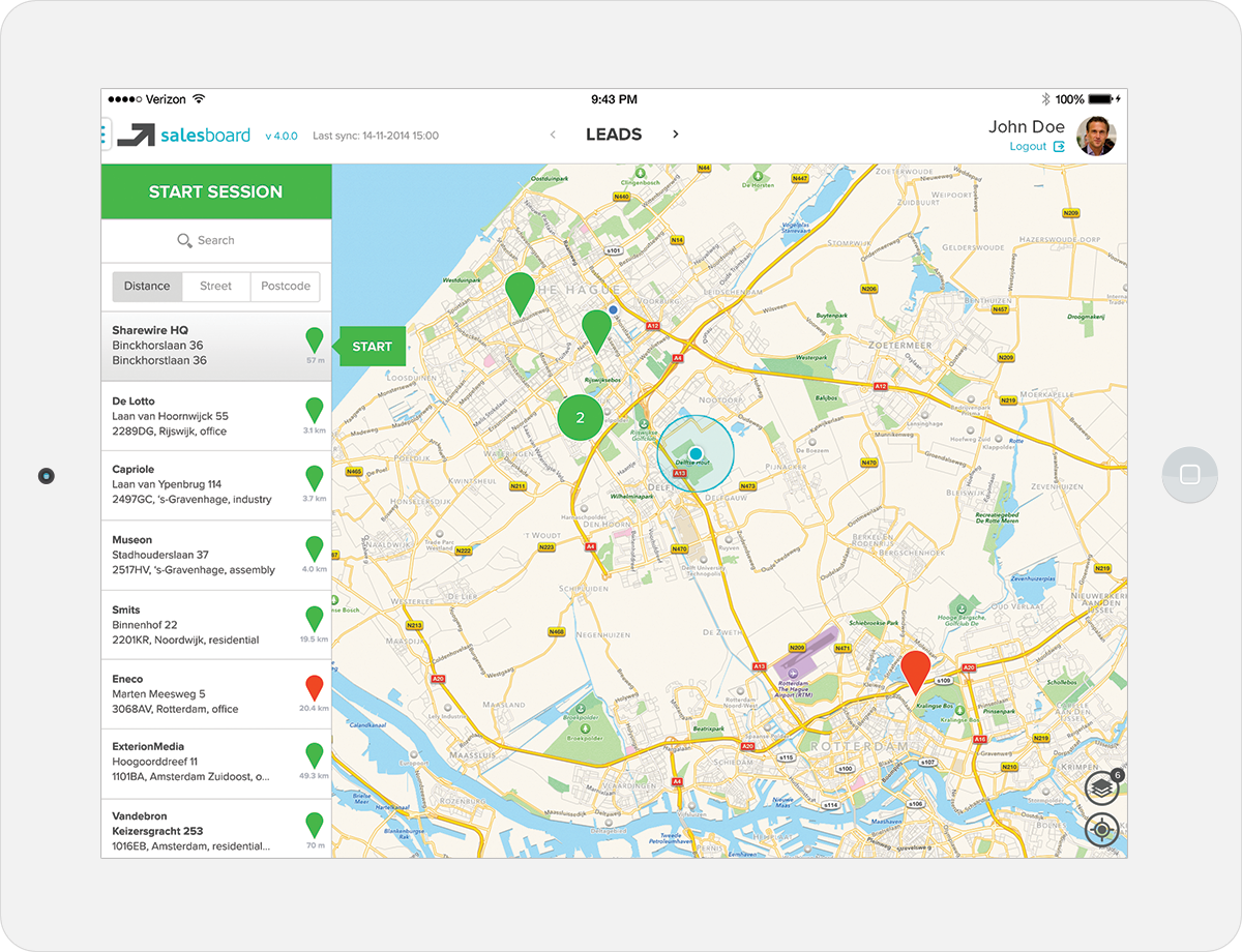 The final version of the dashboard