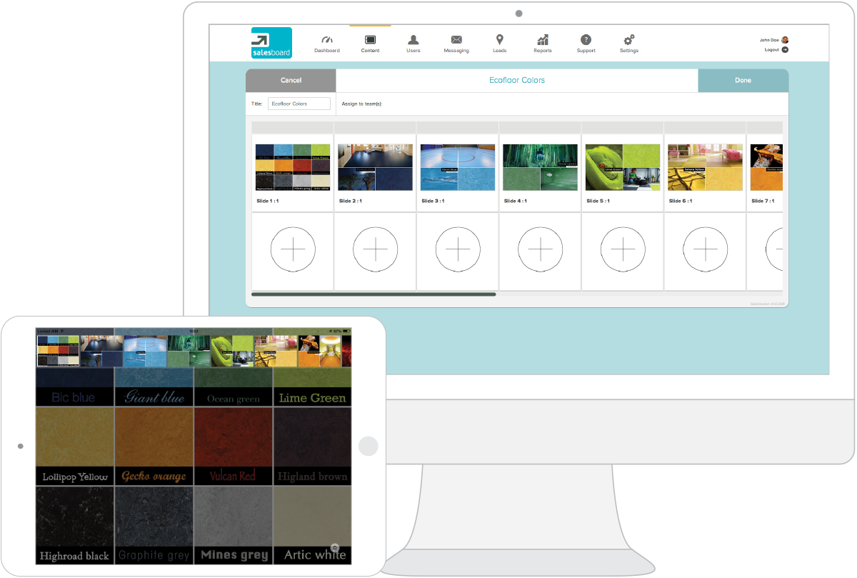 The pitch card editor & presentation editor: Visual design