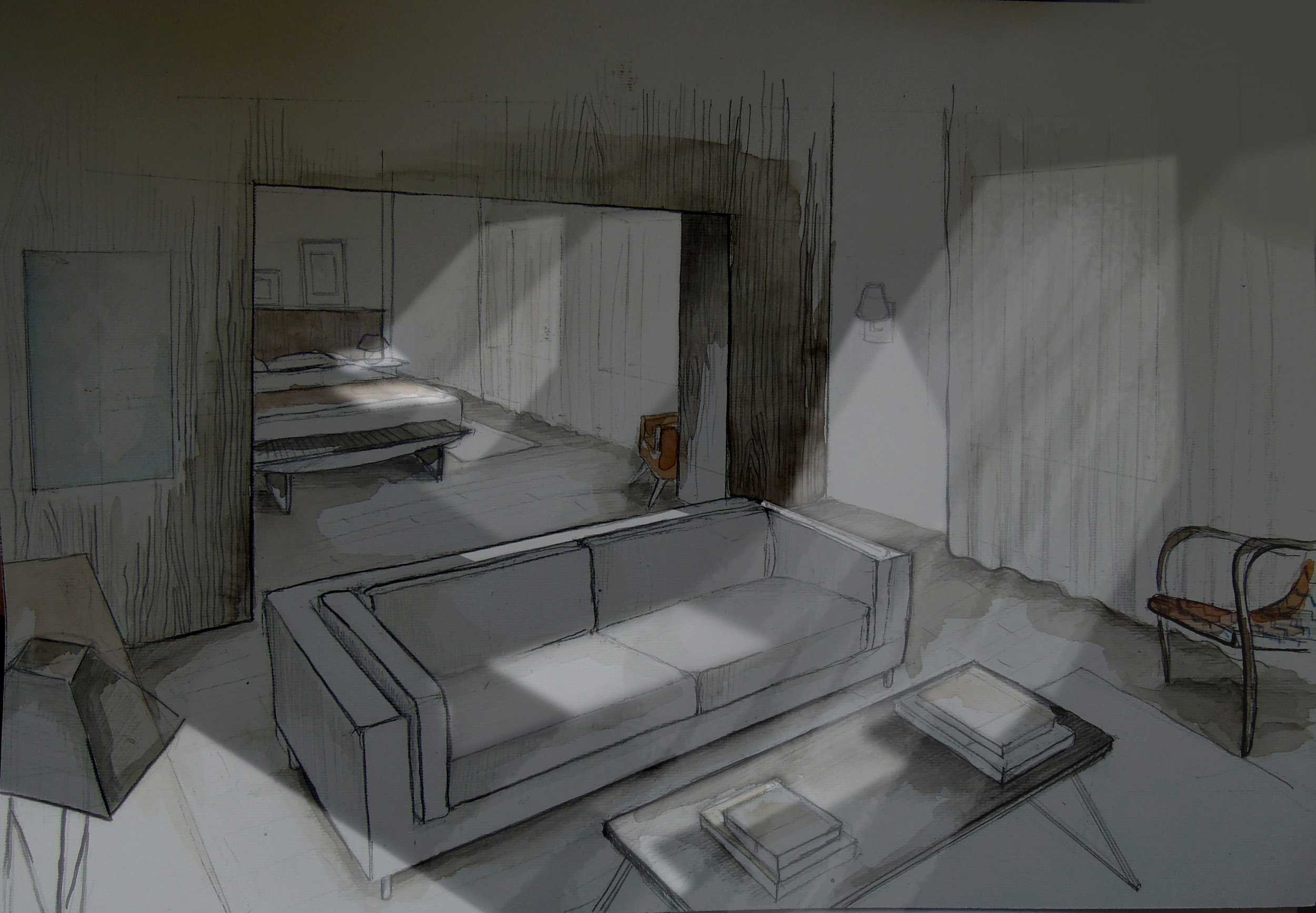 Film set rendering for 'The Practical Guide to Belgrade with Singing and Crying' by B.Vuletic and S.Arsenijevic