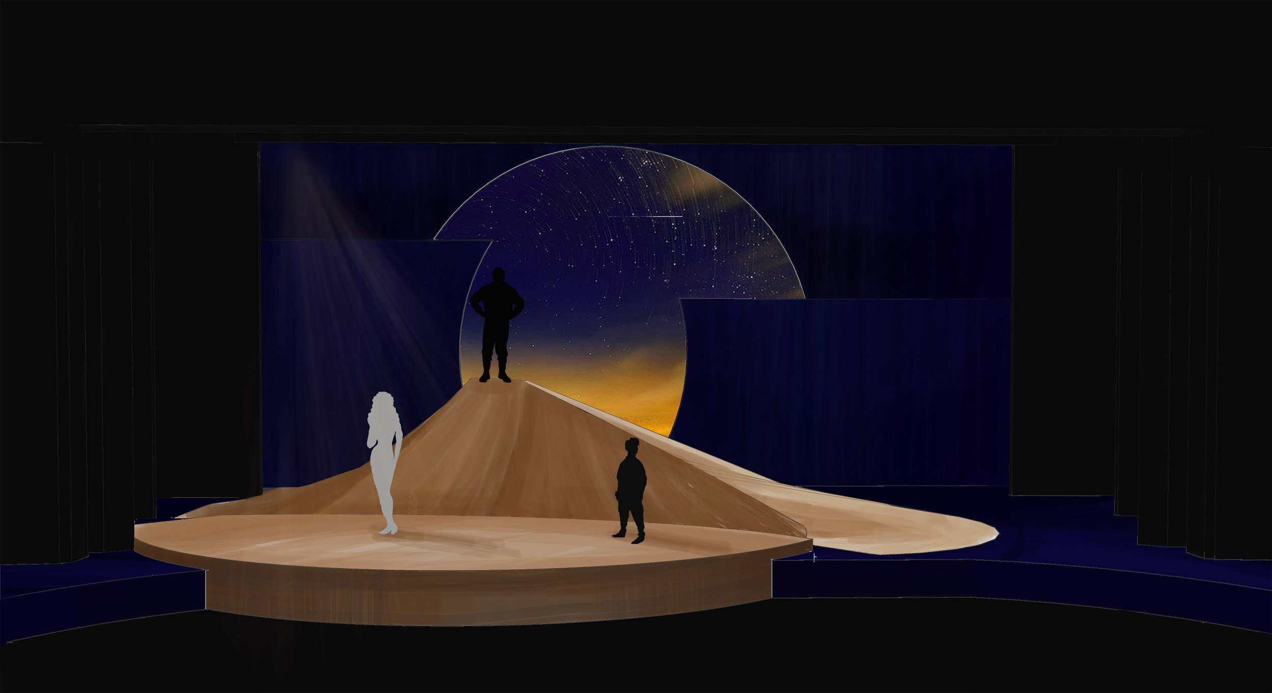 Theatre rendering for 'The Little Prince' by John Scoullar