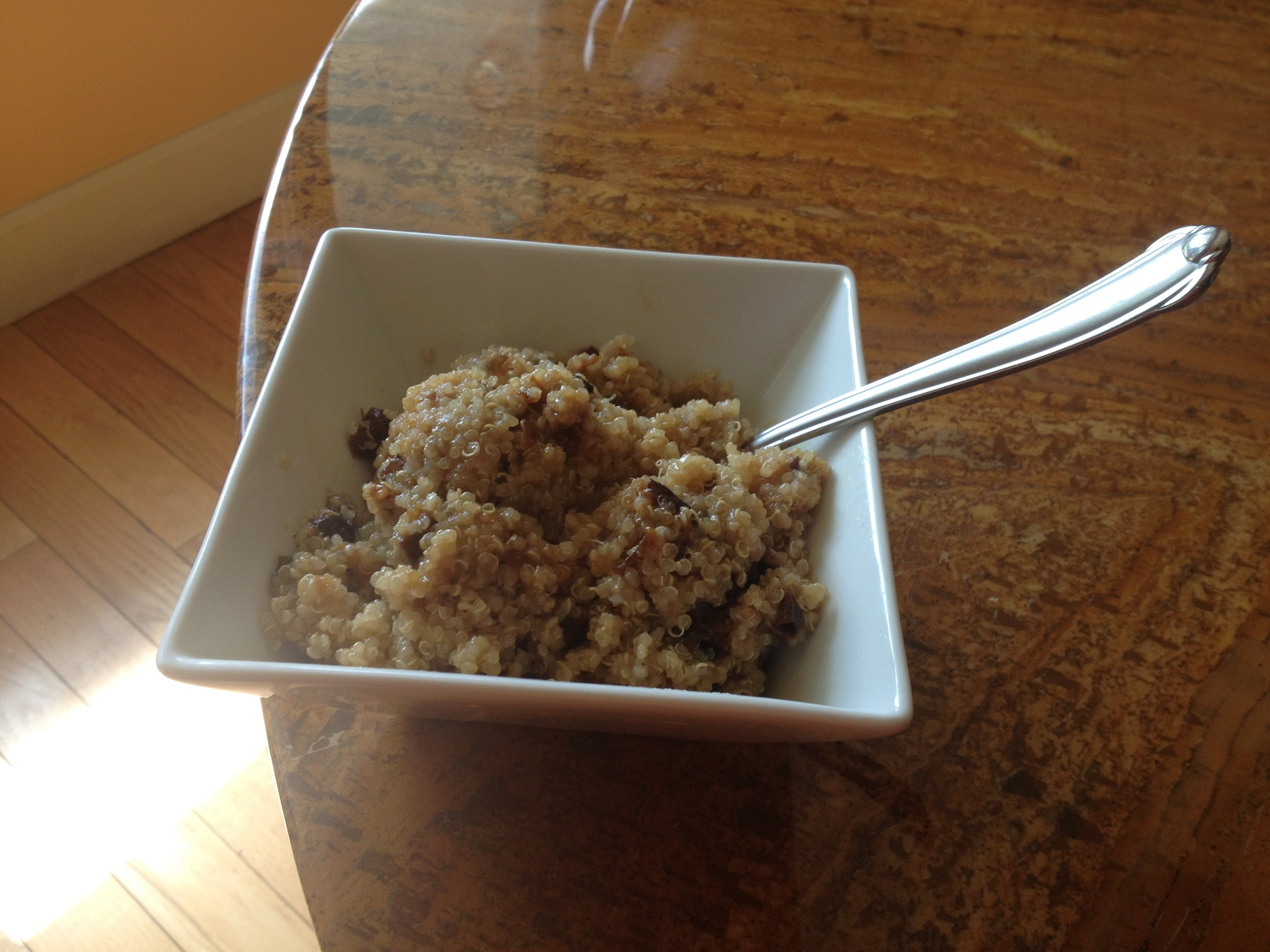 Quinoa and Dried Prunes