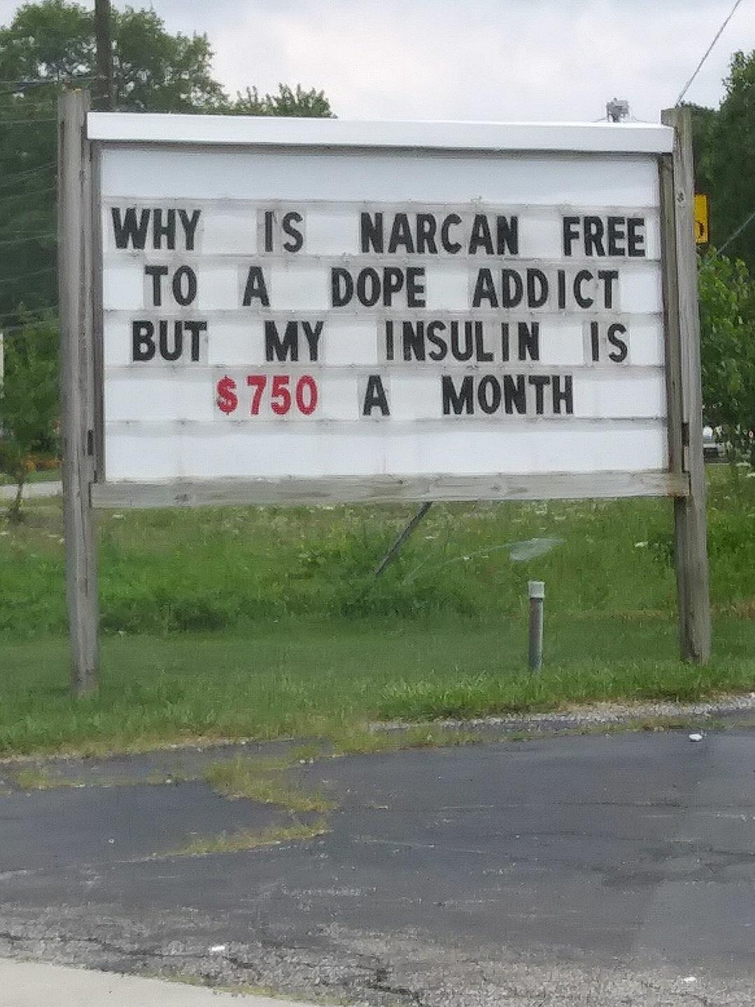 why is narcan free?