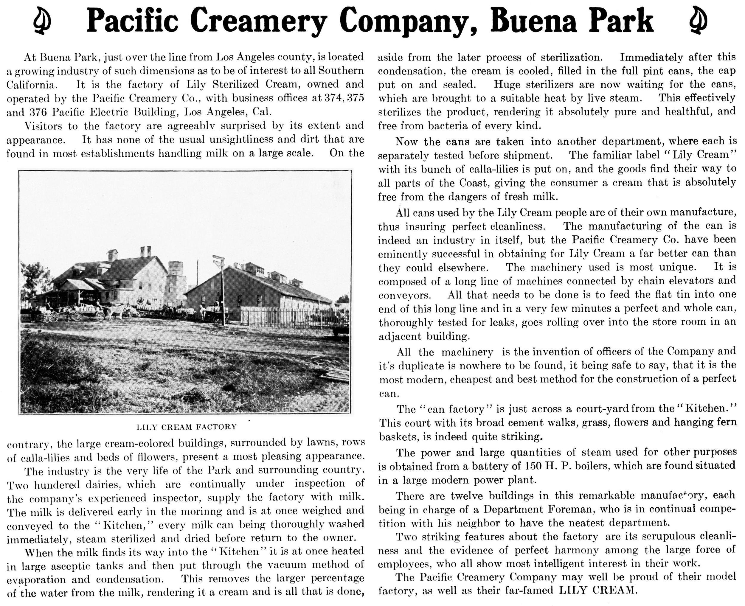 SA Blade, Nov 1905 - Buena Park Creamery.jpg