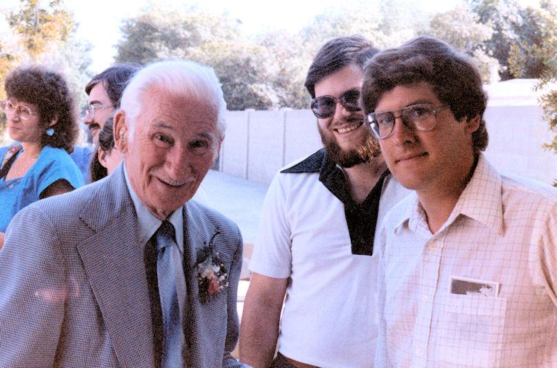 Don Meadows (left), Mark Hall-Patton, and Phil Brigandi, 1985.