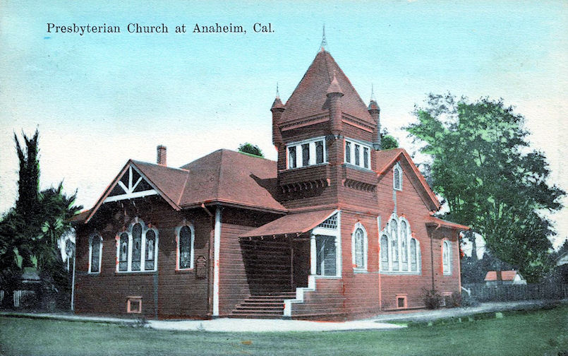 The Anaheim Presbyterian Church, circa 1908 (Courtesy the Anaheim Public Library).
