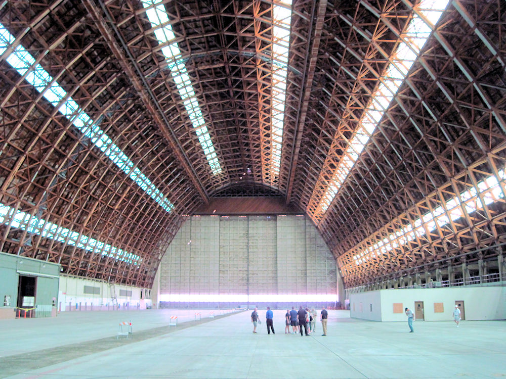 Inside the south blimp hangar at the old Lighter-than-Air base in Tustin, 2013.