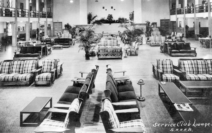 Service Club lounge at the Santa Ana Army Air Base, circa 1942 (courtesy Mark Hall-Patton).