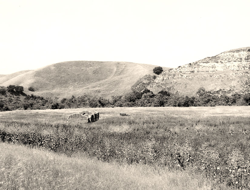 The Trabuco Adobe ruins, circa 1930 (courtesy the First American Corp.).