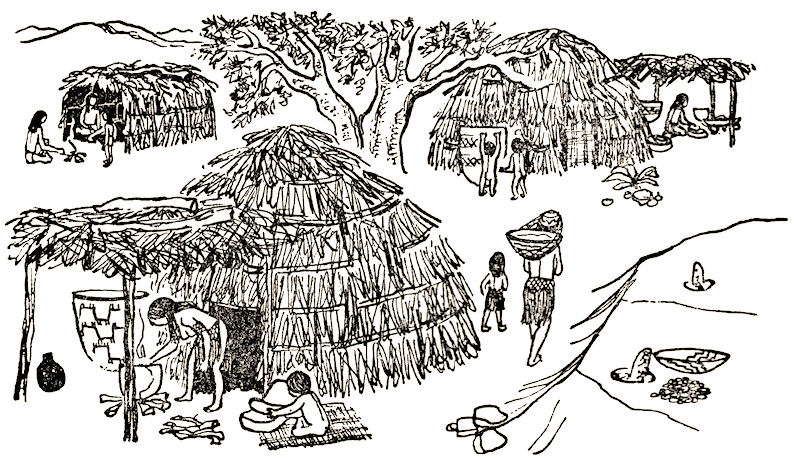 A typical Southern California Indian village (from Bleeker,  The Mission Indians of California , 1956).