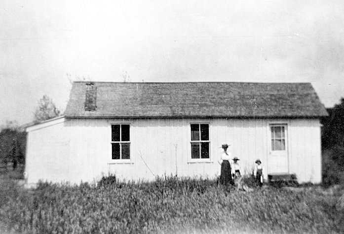 The Trabuco School, circa 1910. All eight grades were taught in this one building.