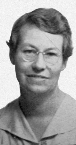 Edna Spaulding, from the 1947 Fullerton Union High School  Pleiades  (courtesy the Fullerton Public Library).
