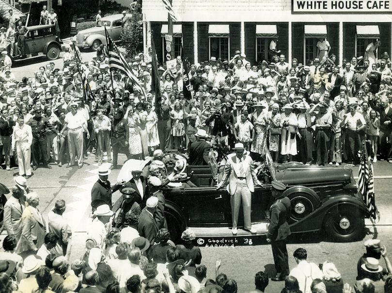 President Franklin Delano Roosevelt visits Laguna Beach, 1938 (courtesy the First American Corporation)