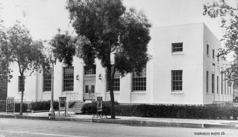 The Anaheim Post Office, circa 1949 (courtesy the Orange County Archives)