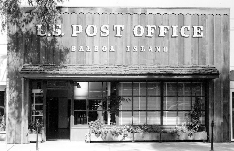 The Balboa Island Post Office in the 1950s (courtesy the Orange County Archives).