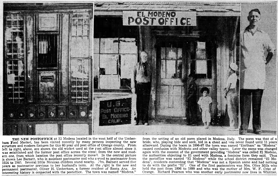 ( Santa Ana Register , August 28, 1940)