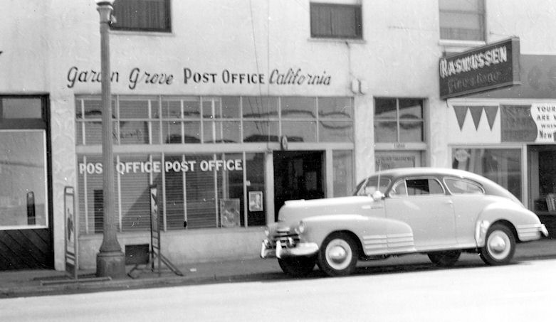 The Garden Grove Post Office in the 1950s (courtesy the Orange County Archives).