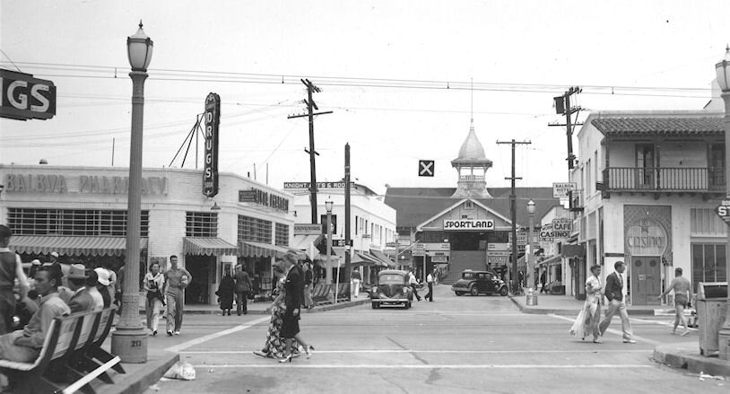 Downtown Balboa in the 1940s.