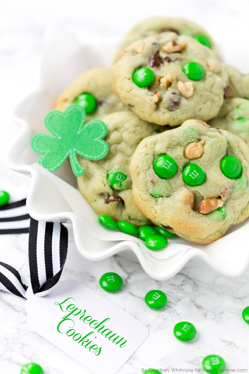 Pistachio & Chocolate Leprechaun Cookies