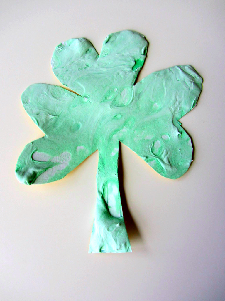 Puffy Paint Shamrock