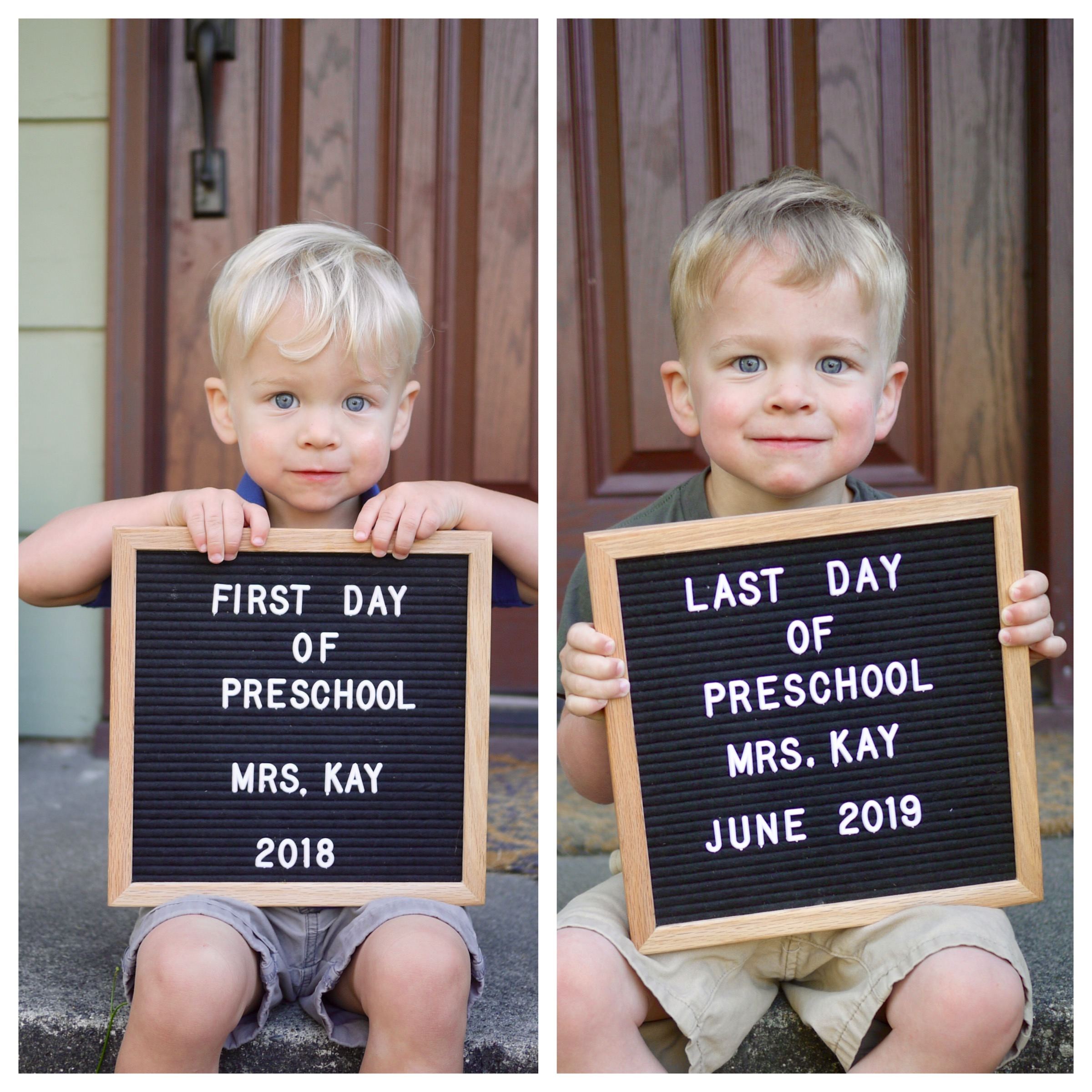 Caleb's first and last day of preschool