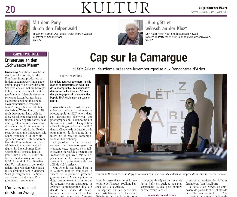 Luxembourger Wort - 31 mars 2018Cap sur la Camargue