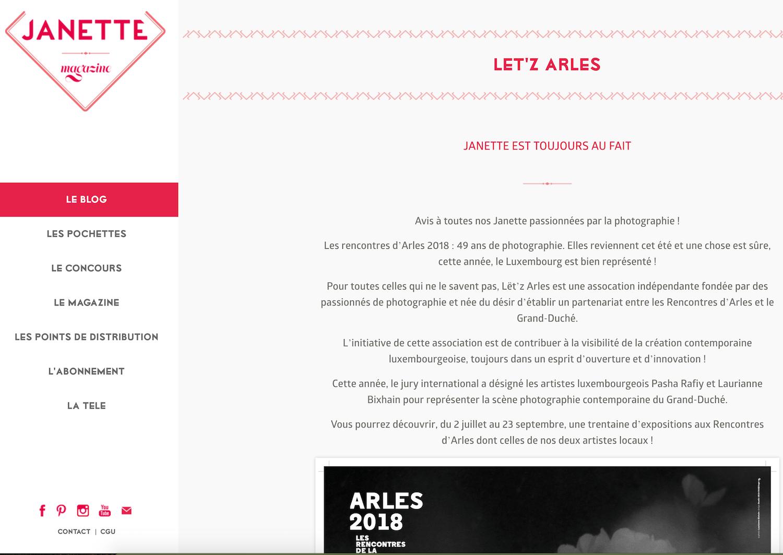 Janette - 12 avril 2018 / Lët'z Arles