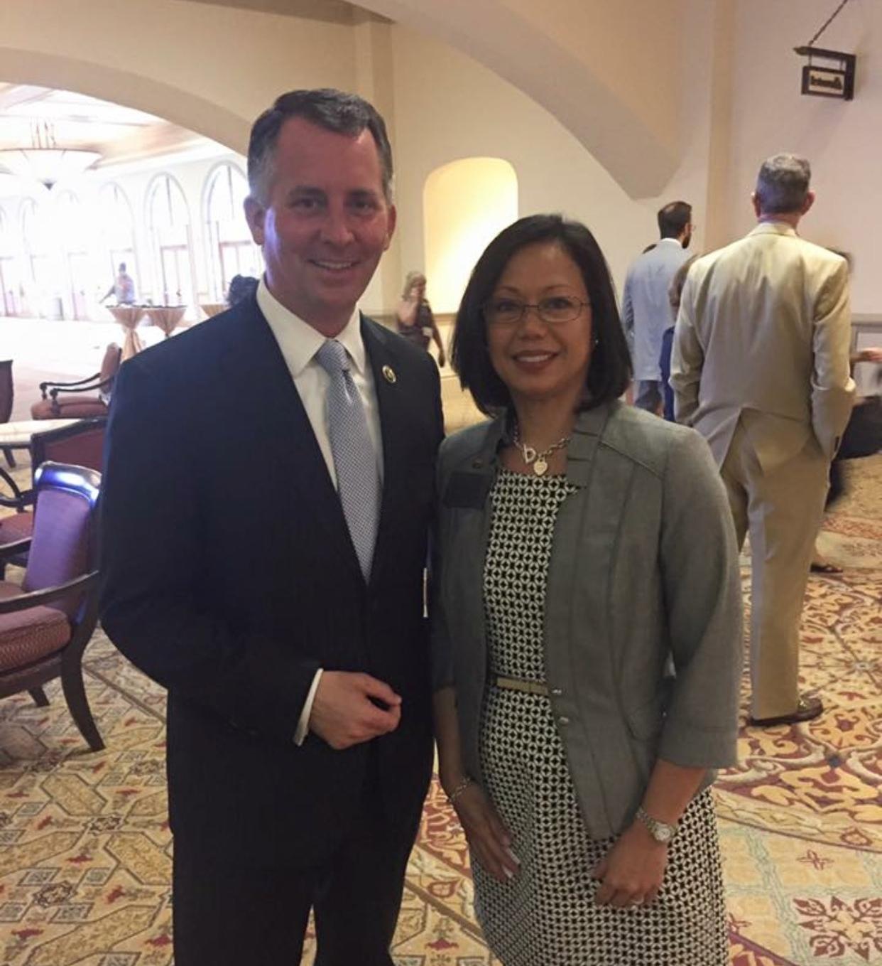 With former Congressman David Jolly