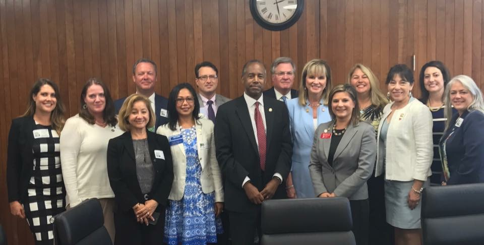 With HUD Secretary Dr. Ben Carson and the Florida Realtors Leadership Team