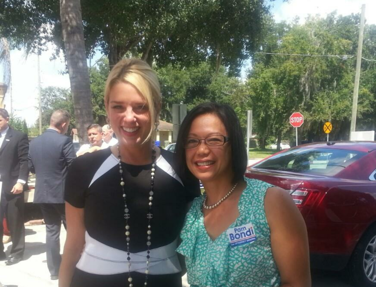 With Florida Atty. General Pam Bondi