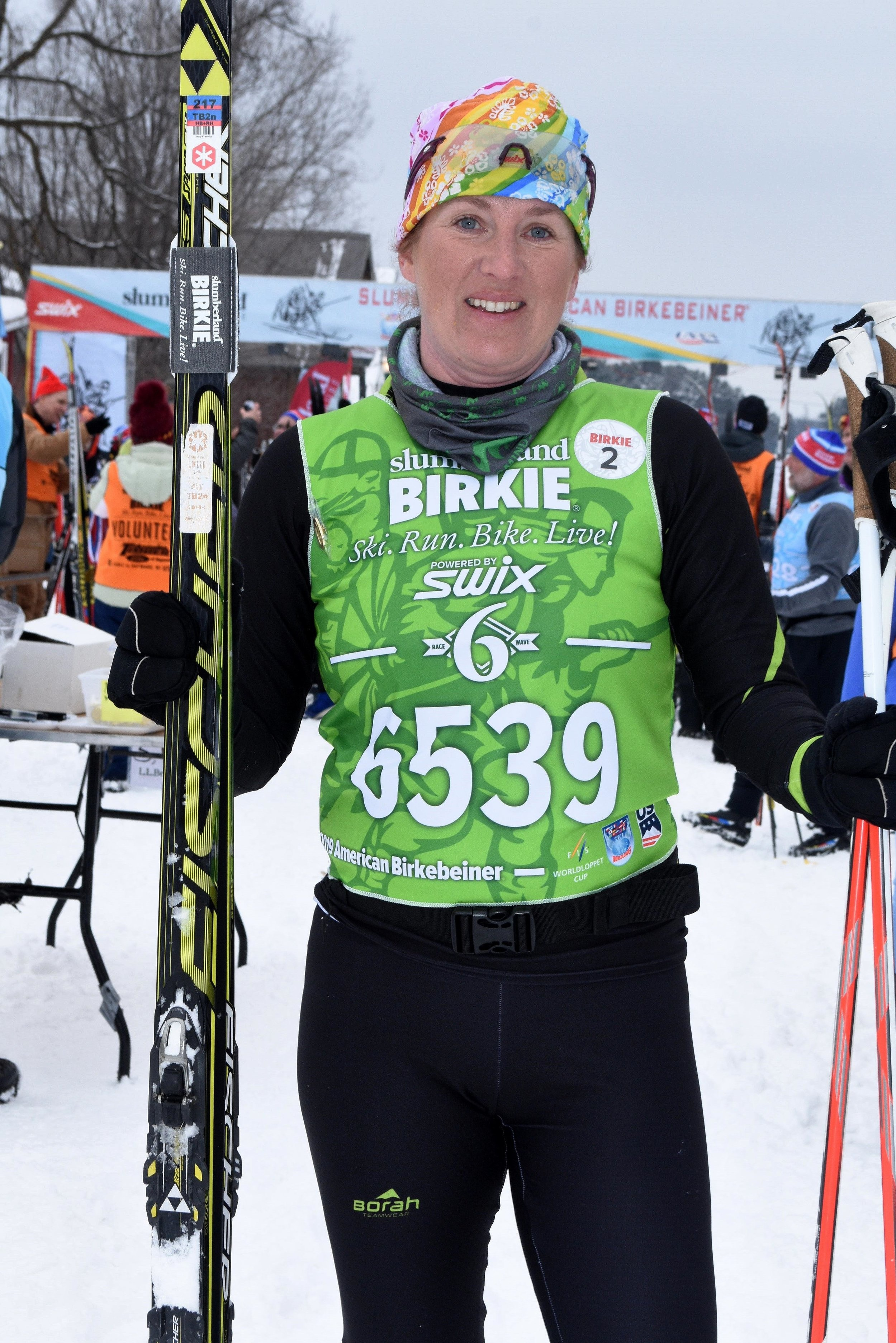 Amy rockin' the 2019 Birkebeiner in Hayward Wisconsin.
