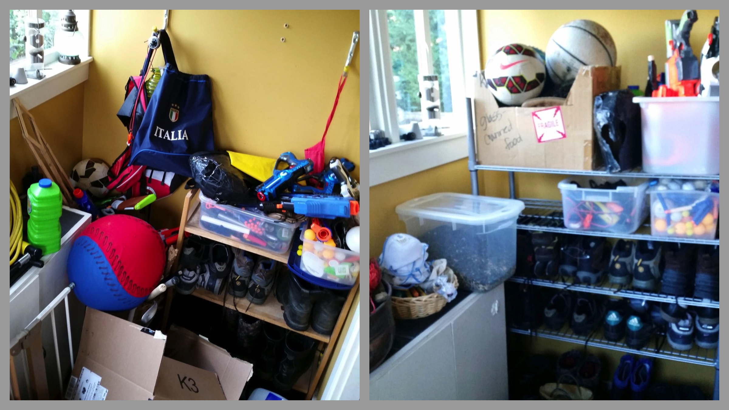Mud Room: Before & After