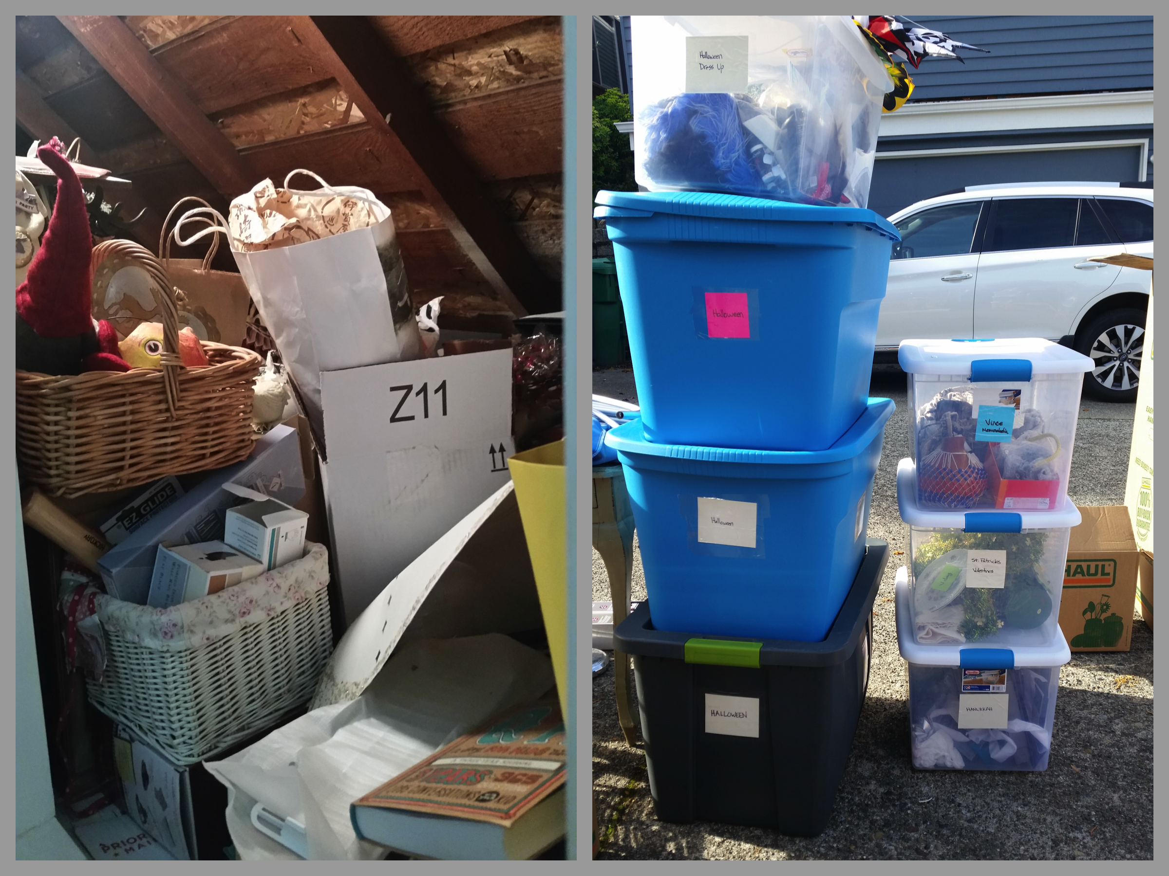 Attic Declutter & Reorganization: Before & After