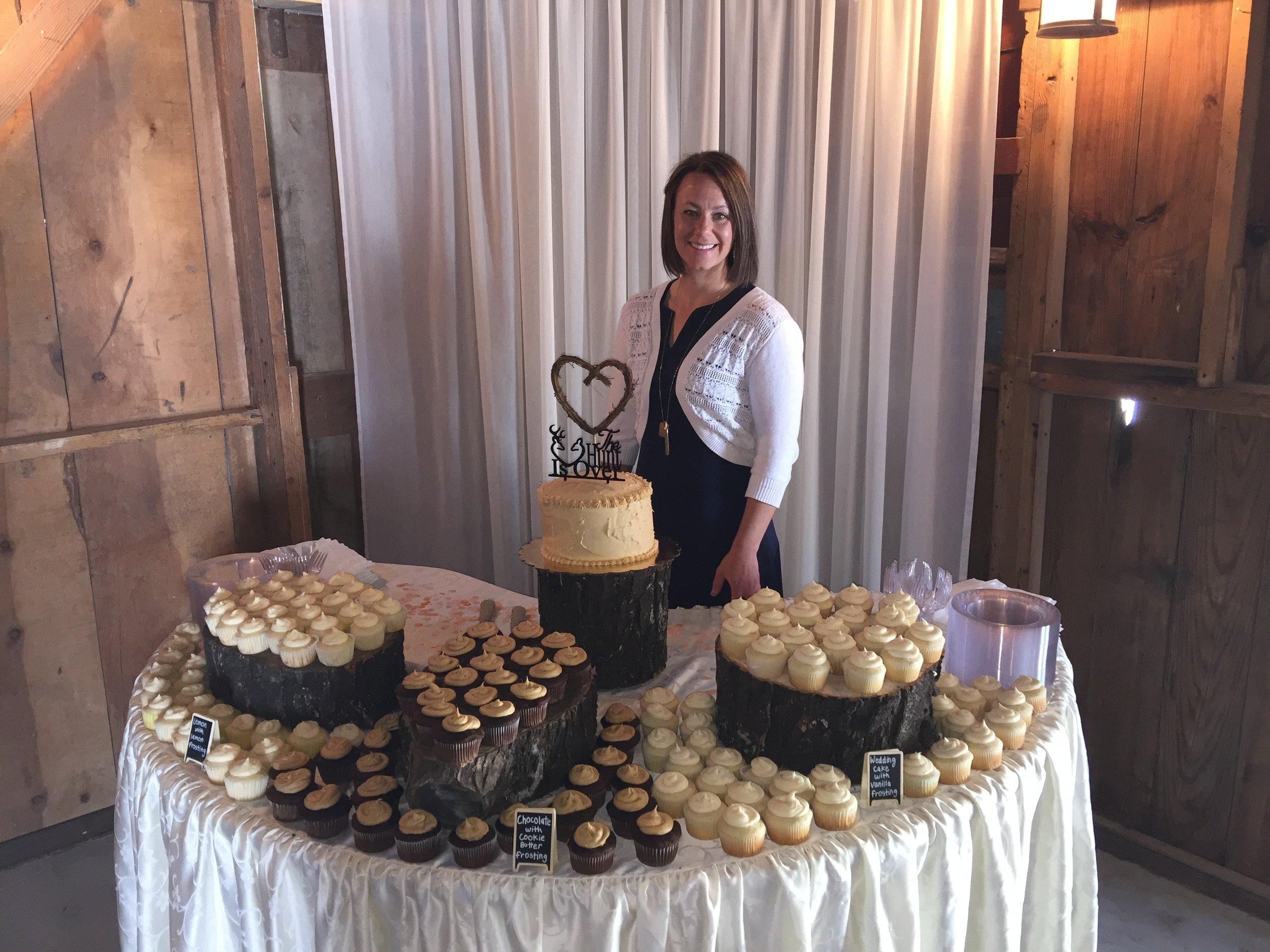 - Cake and cupcakes I made for my sister-in-law's wedding