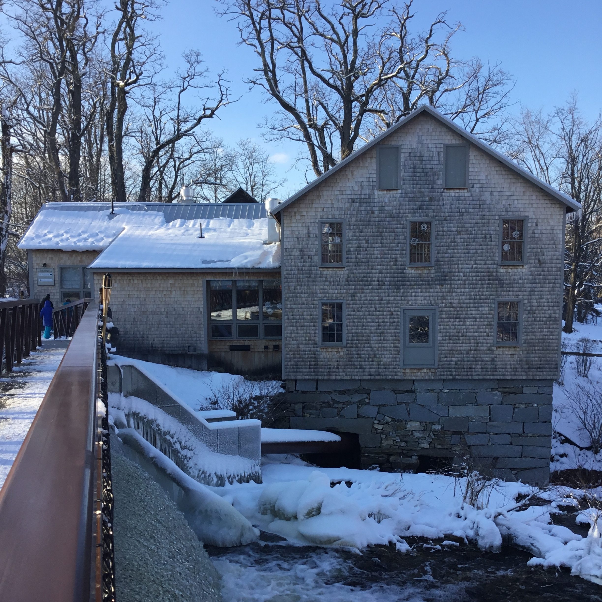 The school building - Learn a bit about the mill and its grounds.