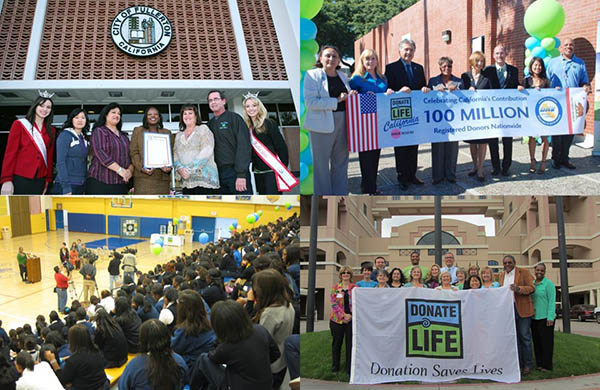 Ambassadors were directed to focus their energy on interventions that had the most potential to impact donation outcomes, including (clockwise from upper left) cities, DMV field offices, hospitals and schools.