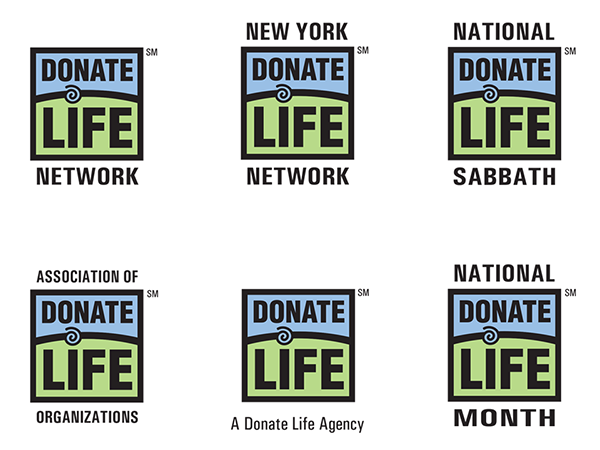 Logo concepts prepared for the AOPO Ad Hoc Branding Committee demonstrated how the Donate Life logo could be used in a variety of ways.