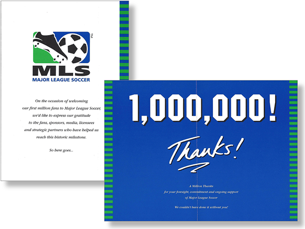 Cards commemorating the milestone were sent to the media and stakeholders.