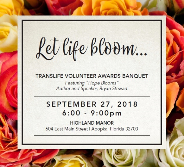 ORLANDO, FL  - TransLife Volunteer Awards Banquet - 9/27/18