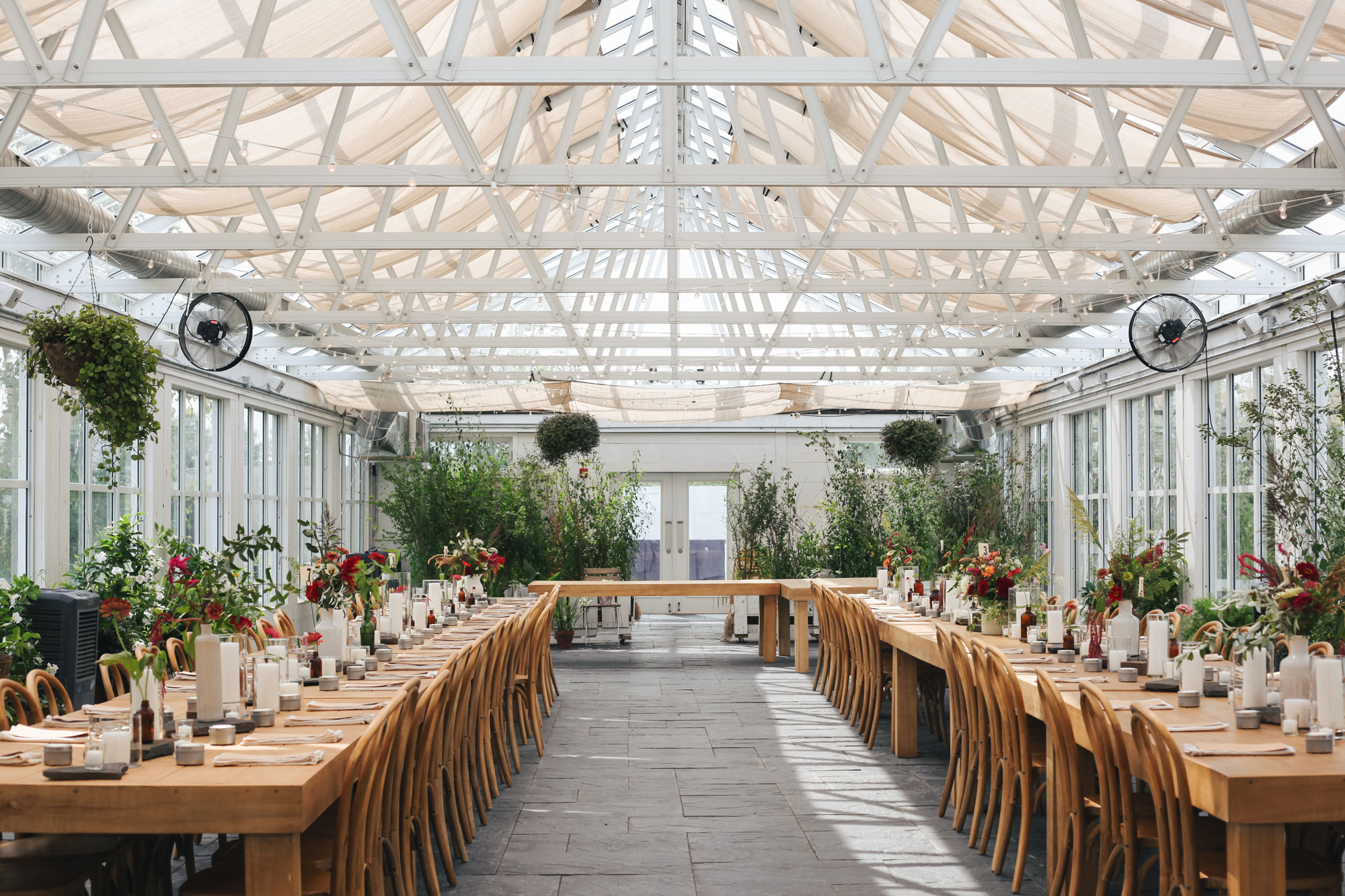 The Greenhouse at  Audrey's Farmhouse  in Gardiner, NY with flowers by  Fern + Fawn .