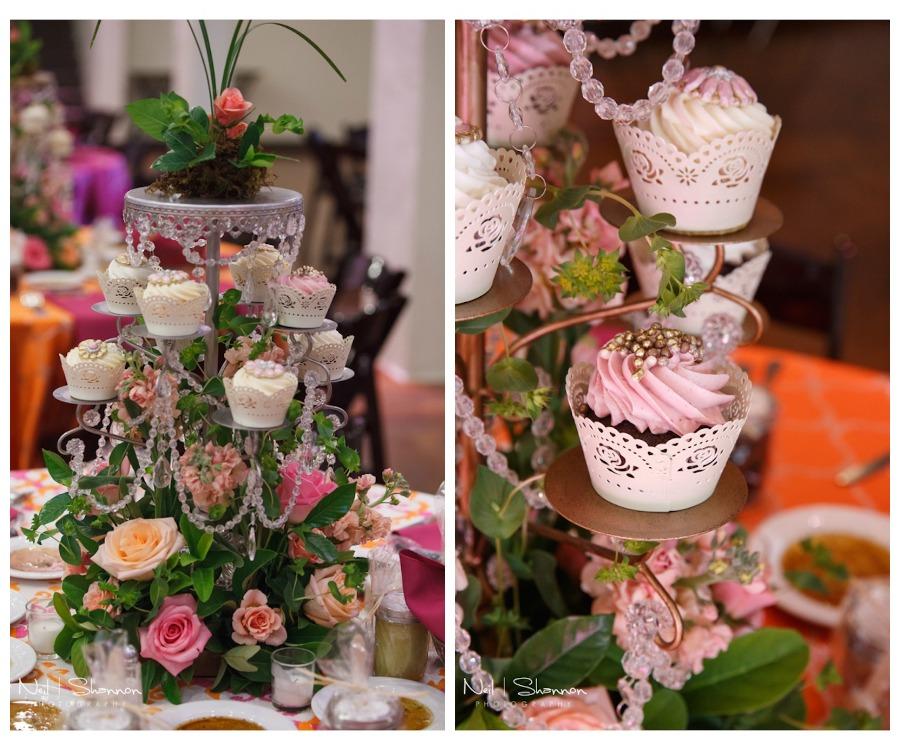 Cupcake Wedding Centerpieces by The Cake Zone | Rustic, Elegant Sarasota Wedding Venue | Bakers Ranch