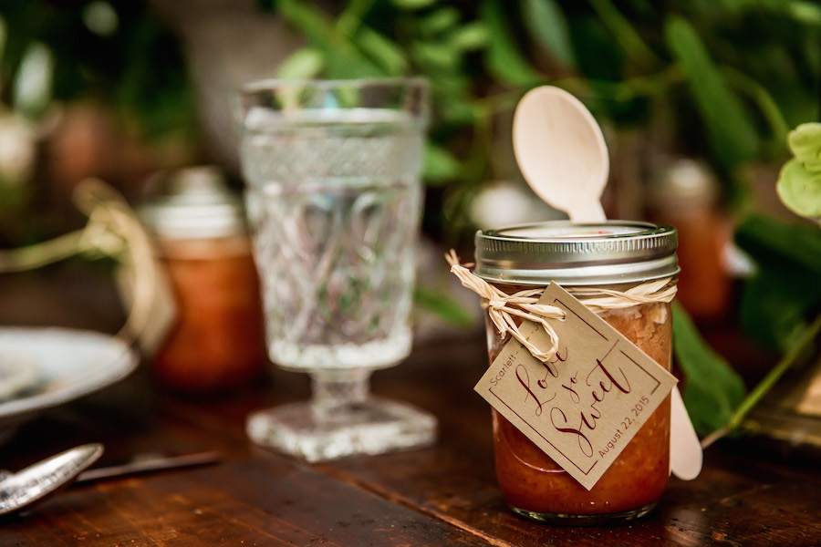 Little Tipsy Cakes Wedding Favors from The Cake Zone | Bourbon Cake in Mason Jars