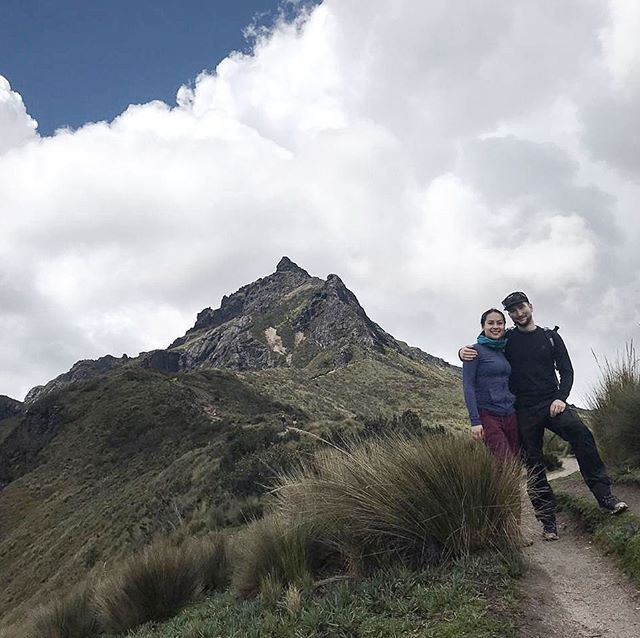 """After months of preparation getting our new camera built and prepping for a group show, we are taking a nice break visiting friends and family in Ecuador. Here is a photo of us after completing a 4800 meter climb to the top of Rucu Pichincha in Quito 🇪🇨🌋 // If you're local to Calgary and area, the show we have been prepping for is titled """"Before Digital: Post 1970 Photography in Alberta"""", curated by Mary-Beth Laviolette with @contemporarycalgary  between Jan 15-Mar 14 at the IKG. Opening the evening of January 17.  We are also very humbled and excited to show case our work, camera and darkroom alongside photographers we have always admired and looked up to. Thank you Contemporary Calgary and team for the opportunity."""
