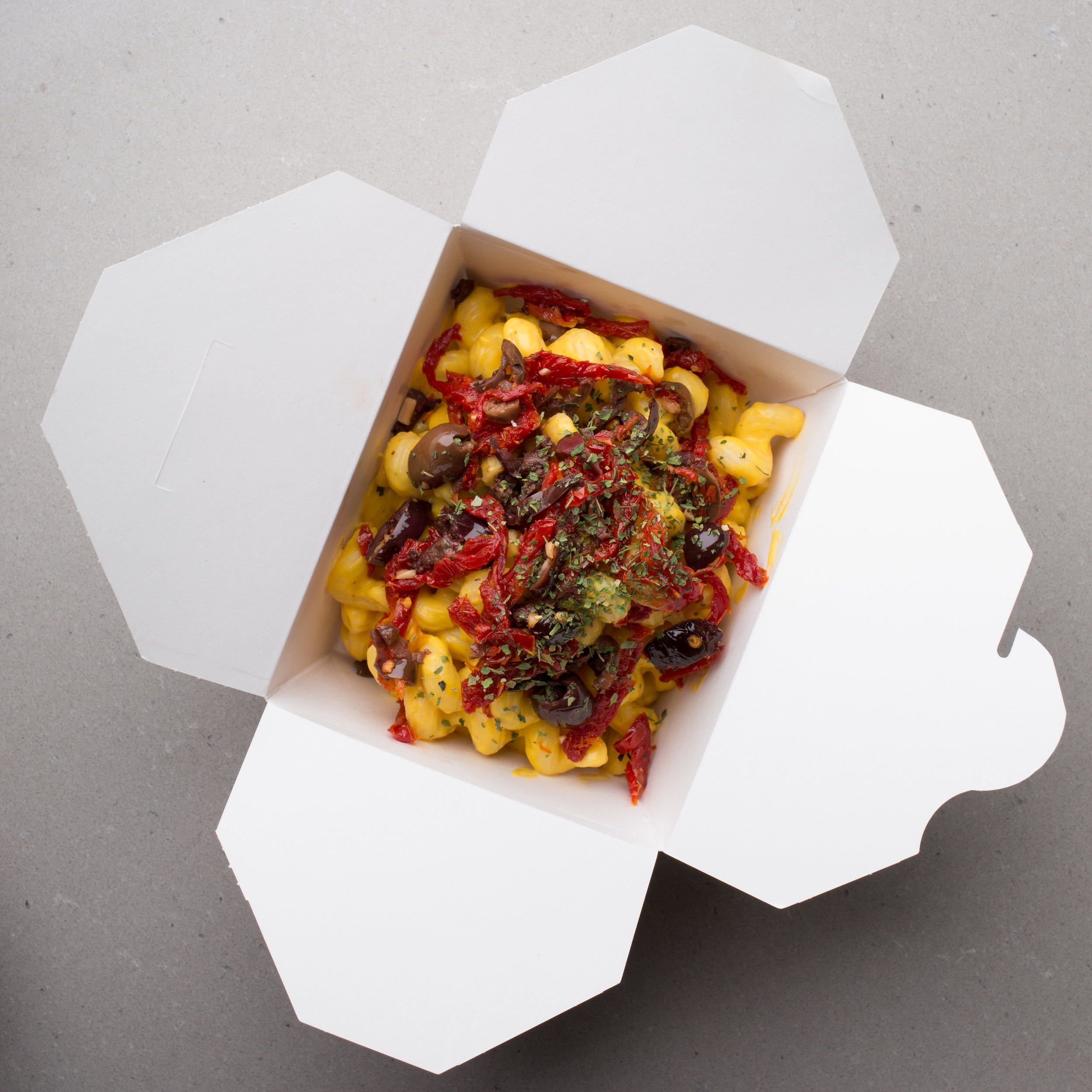 Vegan Mac and Cheese, Vegan meals located at 424 Queen St W, Toronto Ont