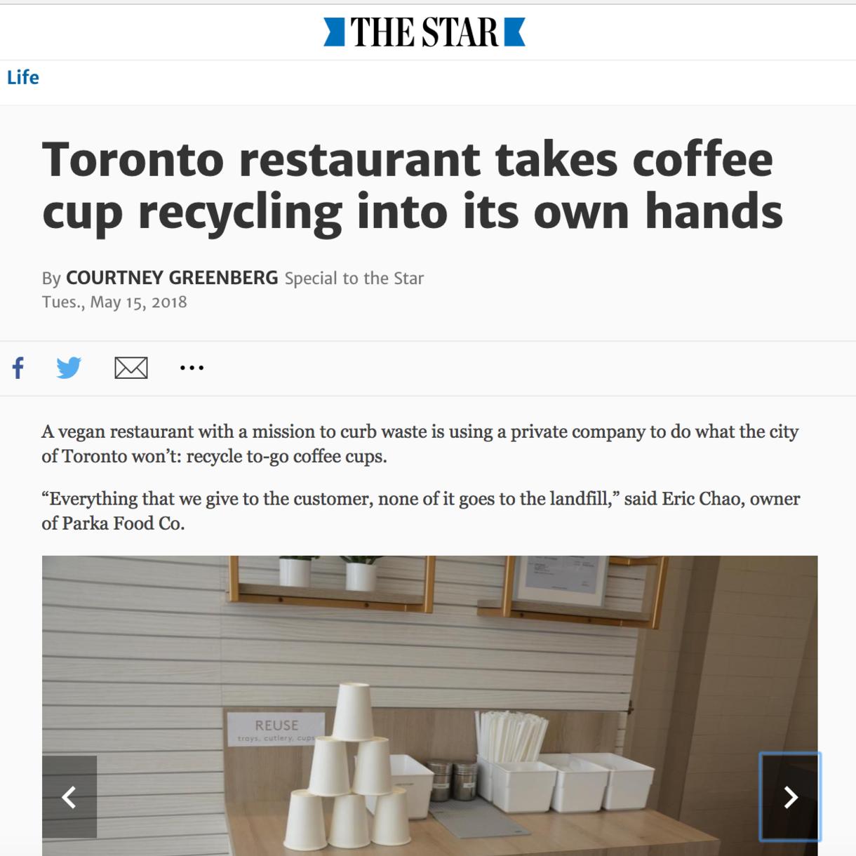 Toronto restaurant, low waste, zero waste, sustainable garbage system, 424 queen st w, Toronto best vegan spots,