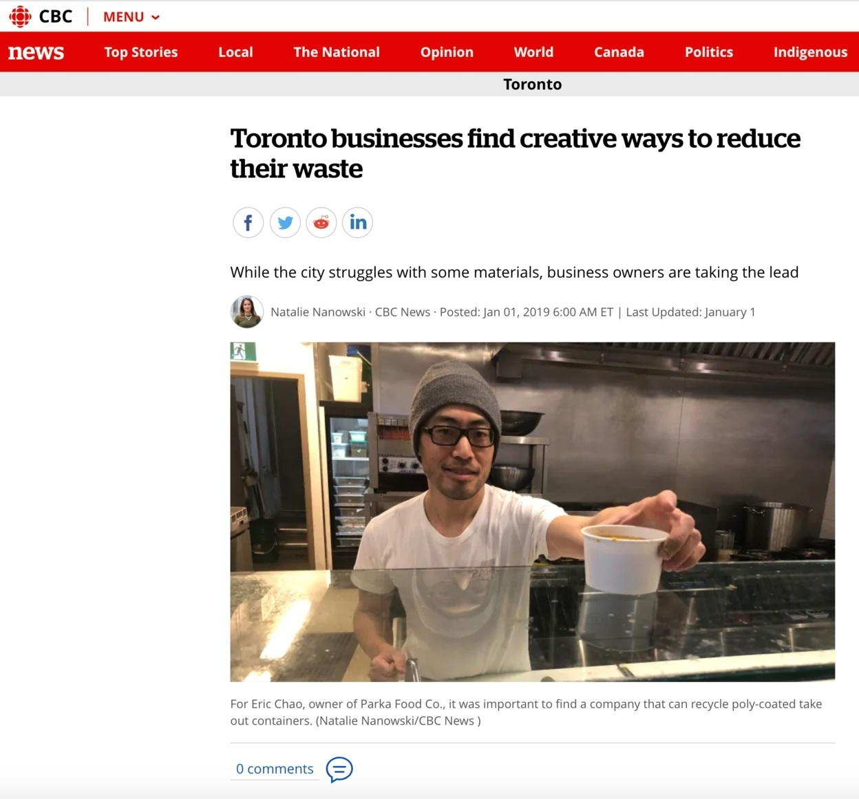 CBC News reviews Parka Food Co., best vegan burger Toronto,