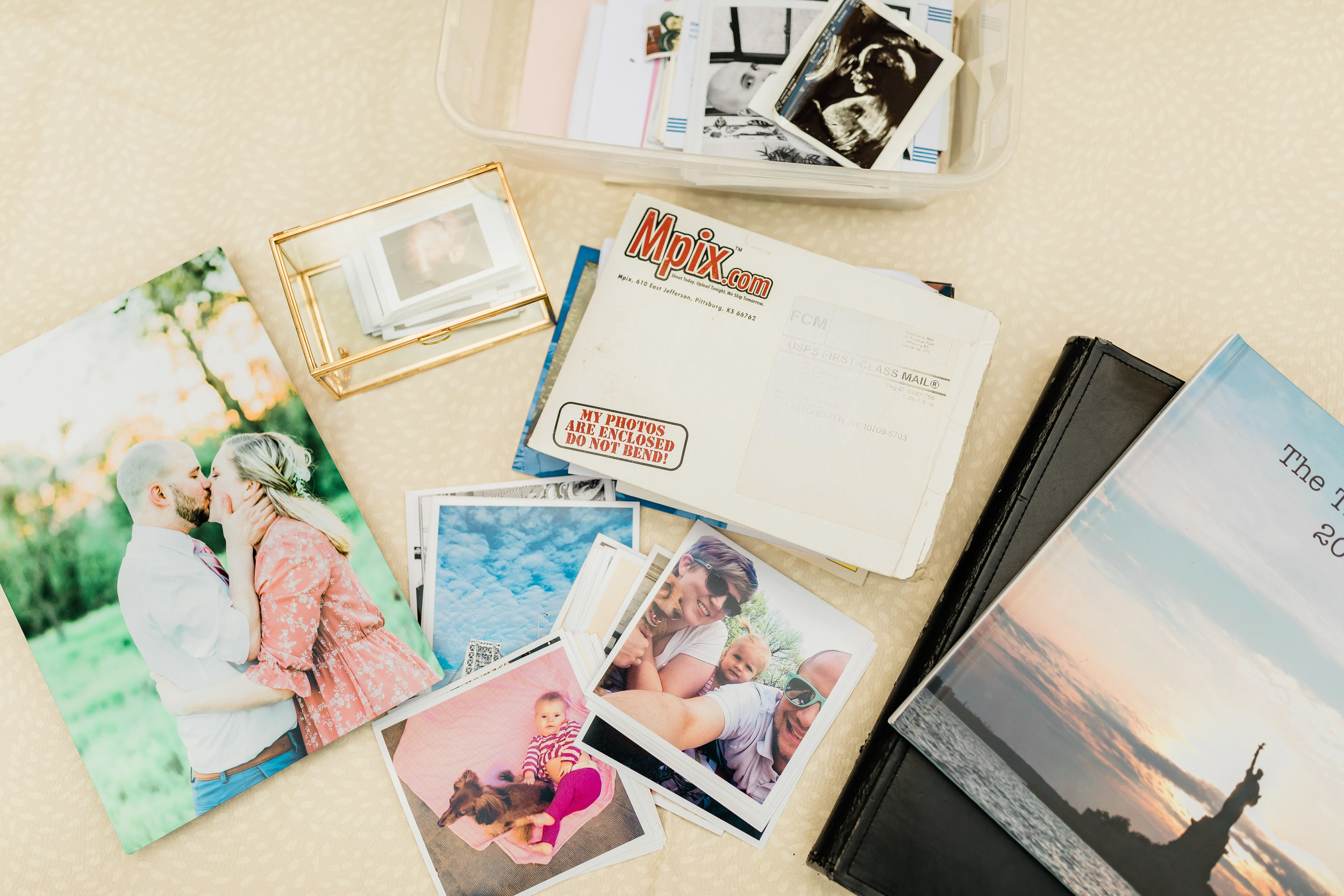 flat lay of photo print products