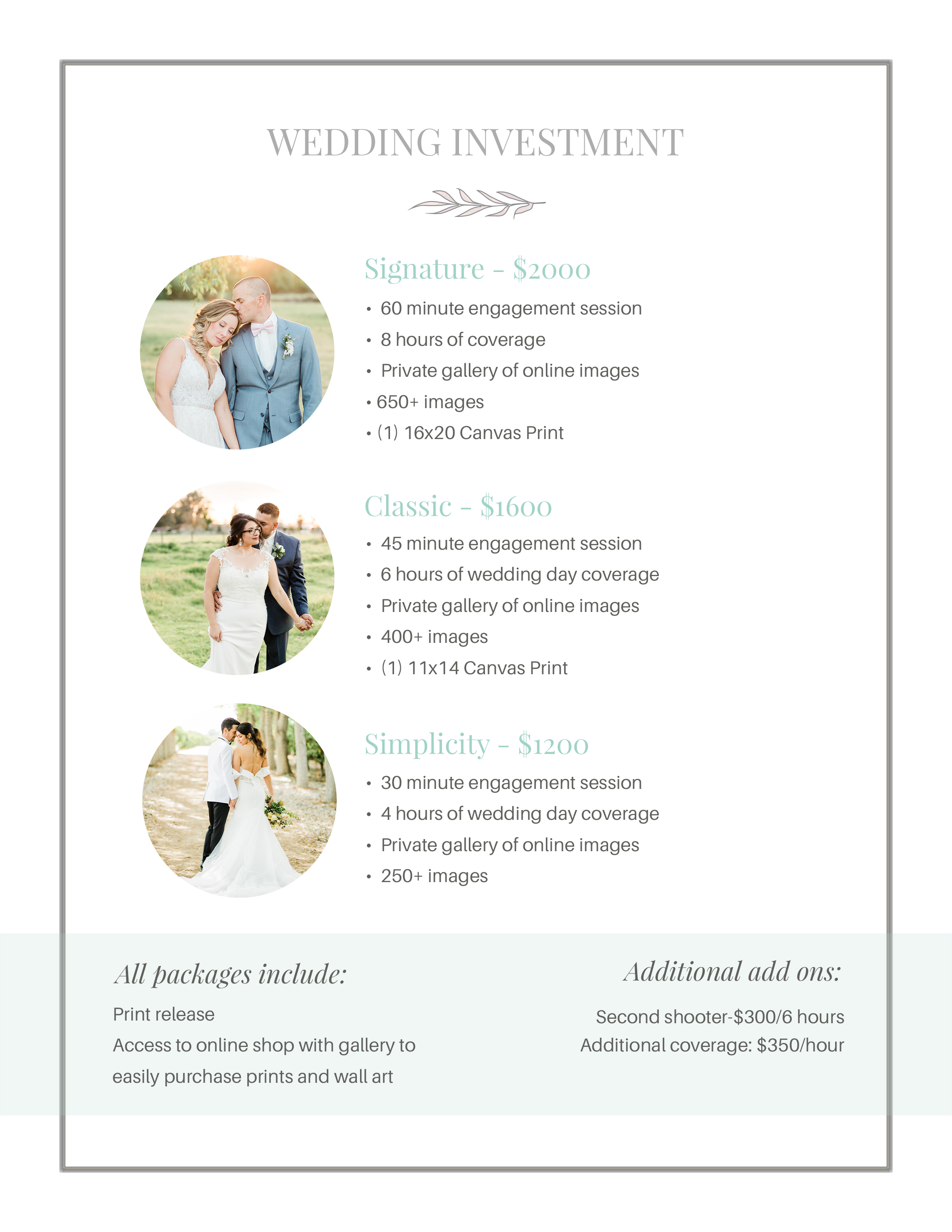 MTP wedding investment