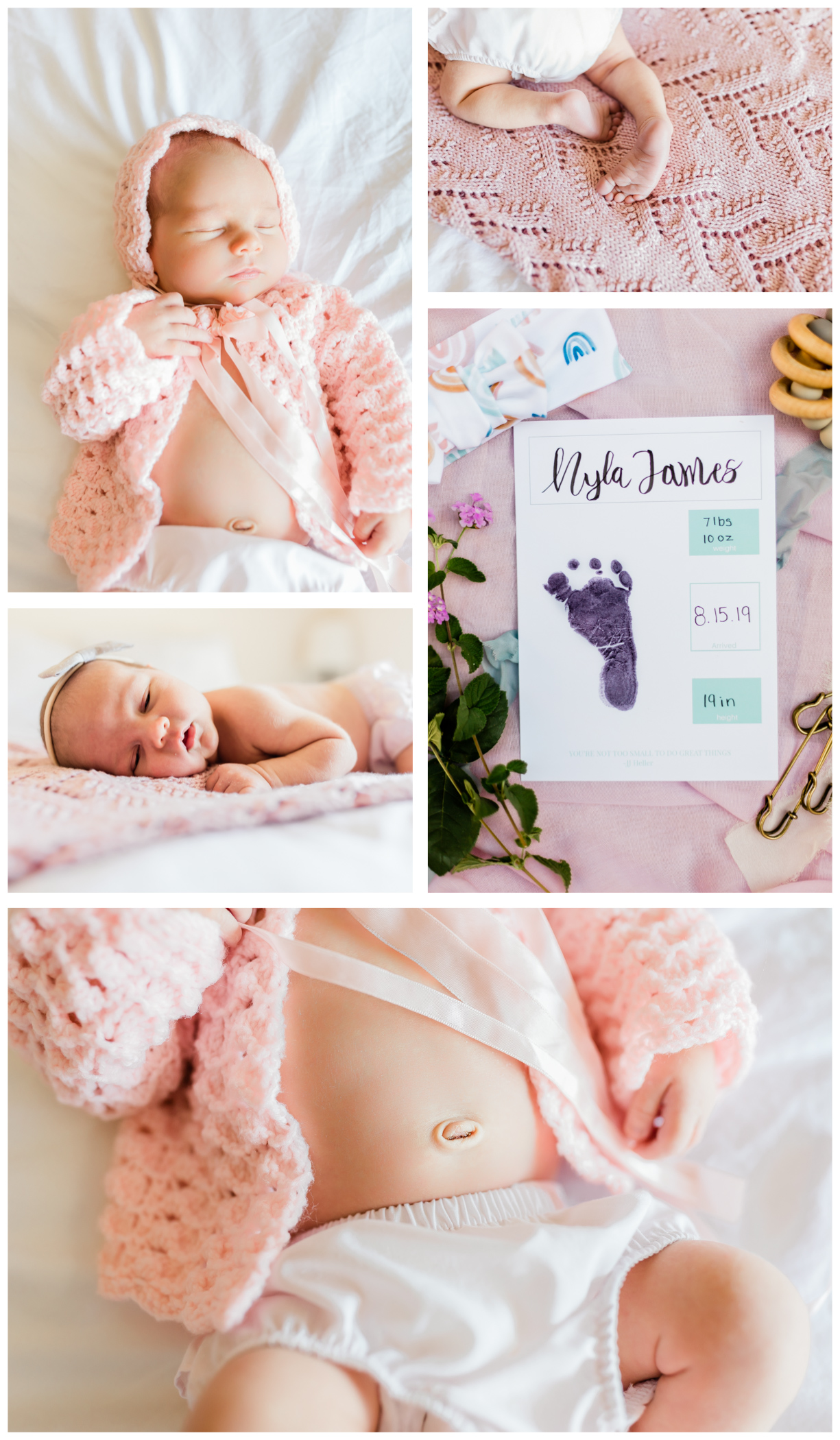 details of newborn girl from newborn lifestyle session