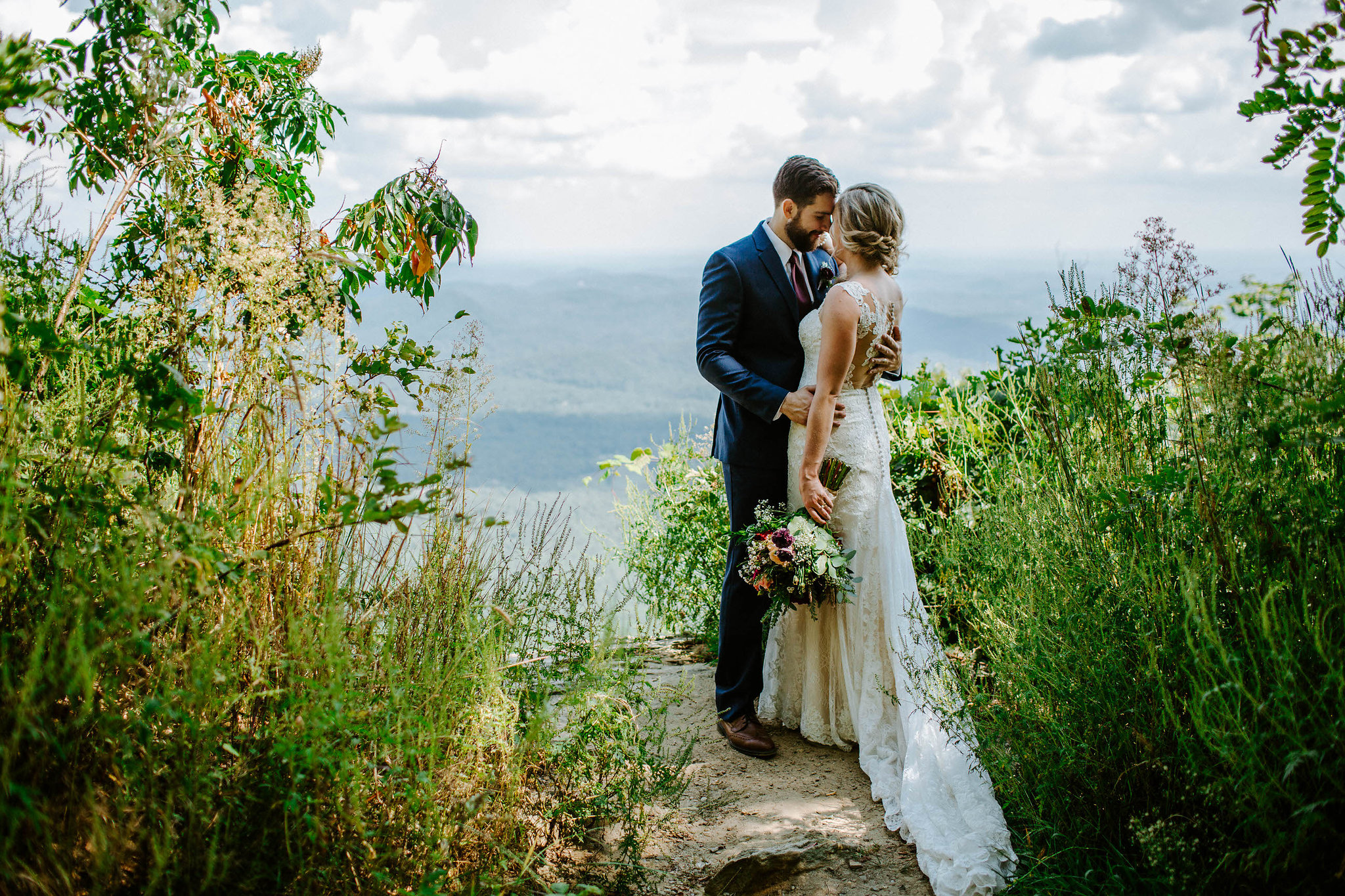 destination wedding couple just after their ceremony at the pretty place chapel in cleveland, south carolina, photography by taylor heery photography